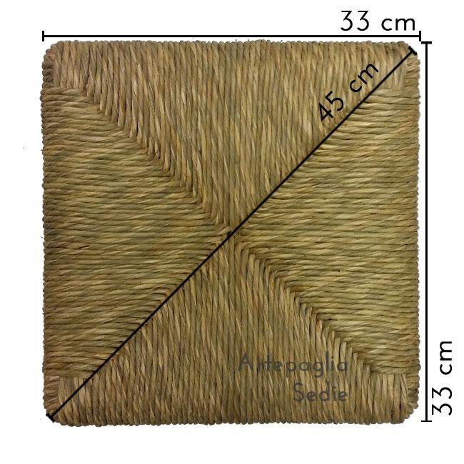 Ricambio sedile 33 x 33 cm in paglia di palude
