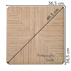 Ricambio sedile 36,5 x 36,5 cm in cellulosa