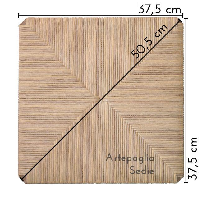 Ricambio sedile 37.5x37.5 in cellulosa
