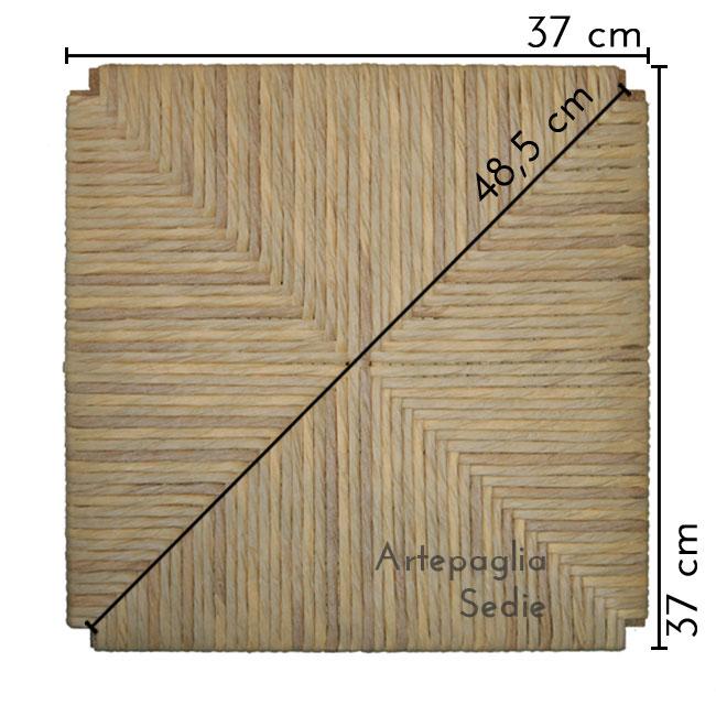 Ricambio sedile 37x37 cm in cellulosa