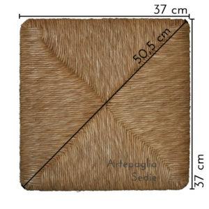 Ricambio sedile 37x37 cm in erba di palude