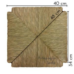 Ricambio sedile 40 x 40 cm in paglia di palude