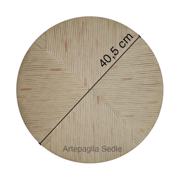 Ricambio sedile tondo 40.5 cm in cellulosa mais