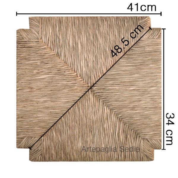 Ricambio sedile 40x40 in paglia palustre
