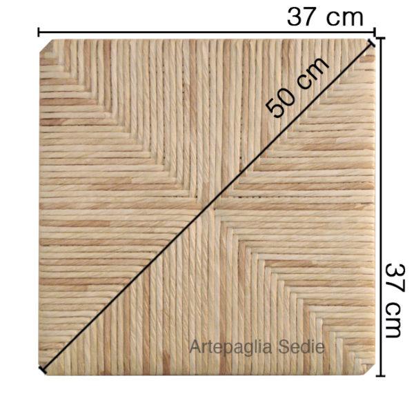 Ricambio sedile 37x37x50 in cellulosa mais