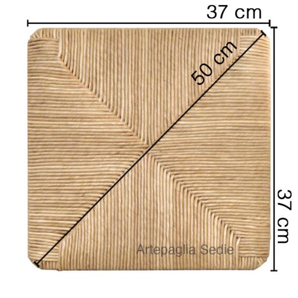 Ricambio sedile 37x37x50 in paglia di segala oro